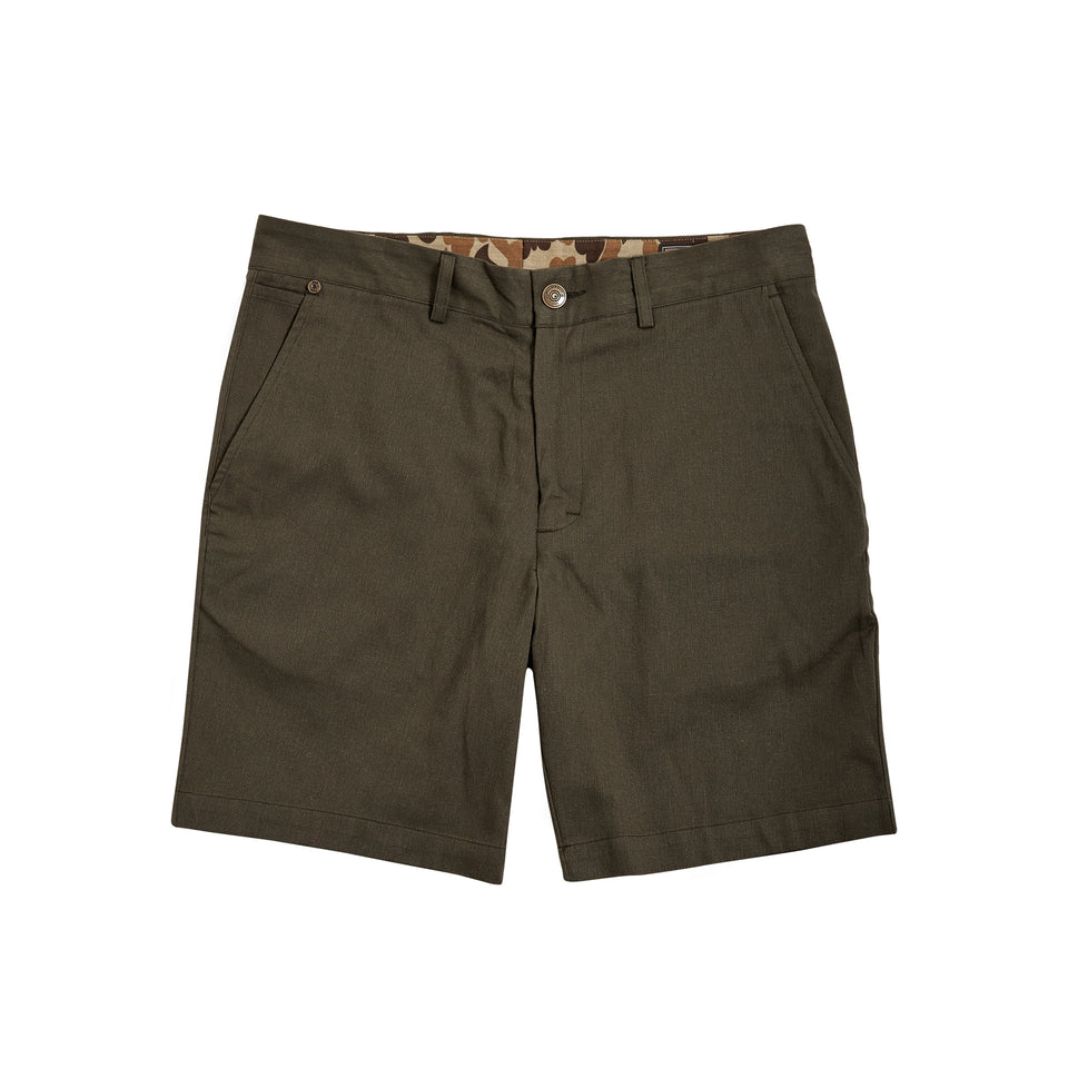 6 Point Short Sanded Twill - Olive