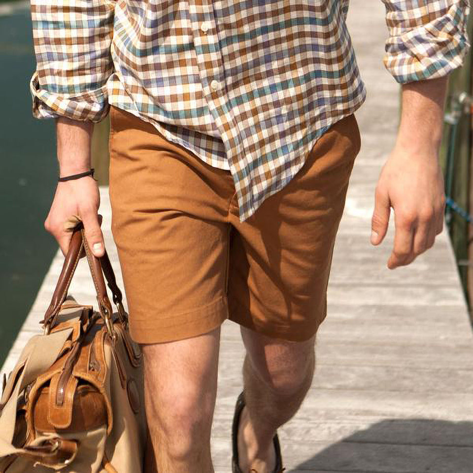 6 Point Duck Cotton Short - Khaki - Ball and Buck