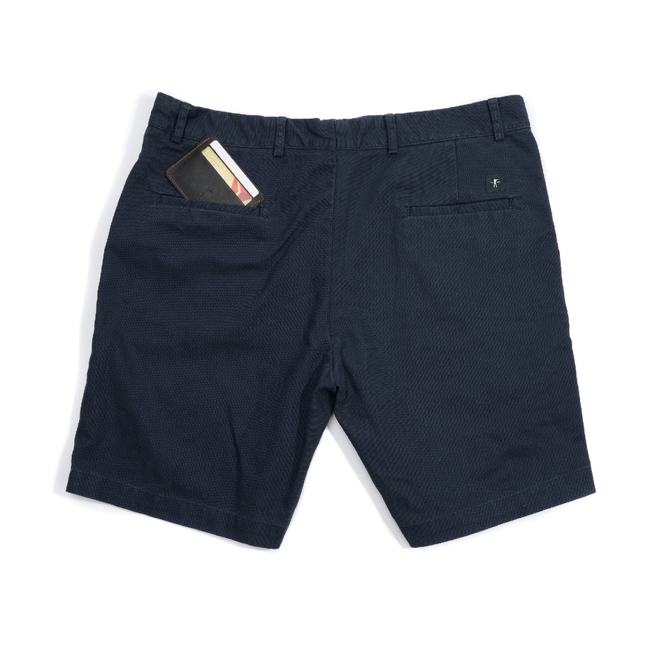 6 Point Washed Duck Cotton Short - Navy - Ball and Buck