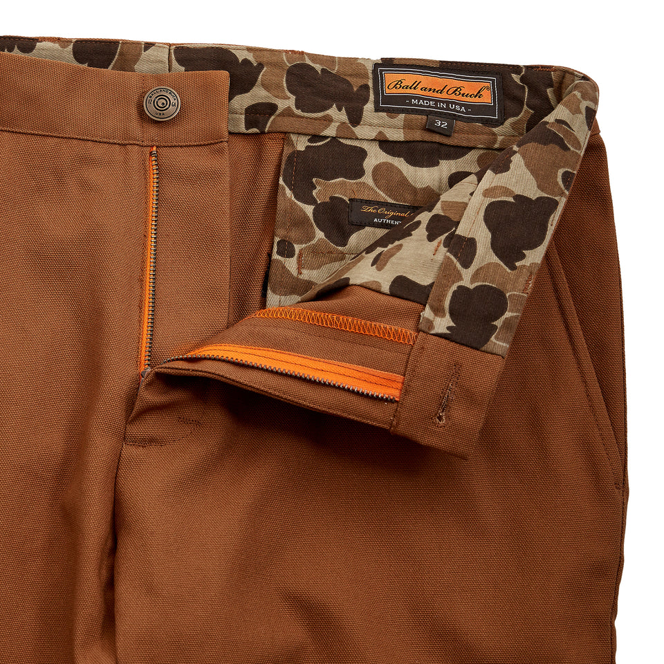 8 Point Duck Cotton Pant - Caramel - Ball and Buck