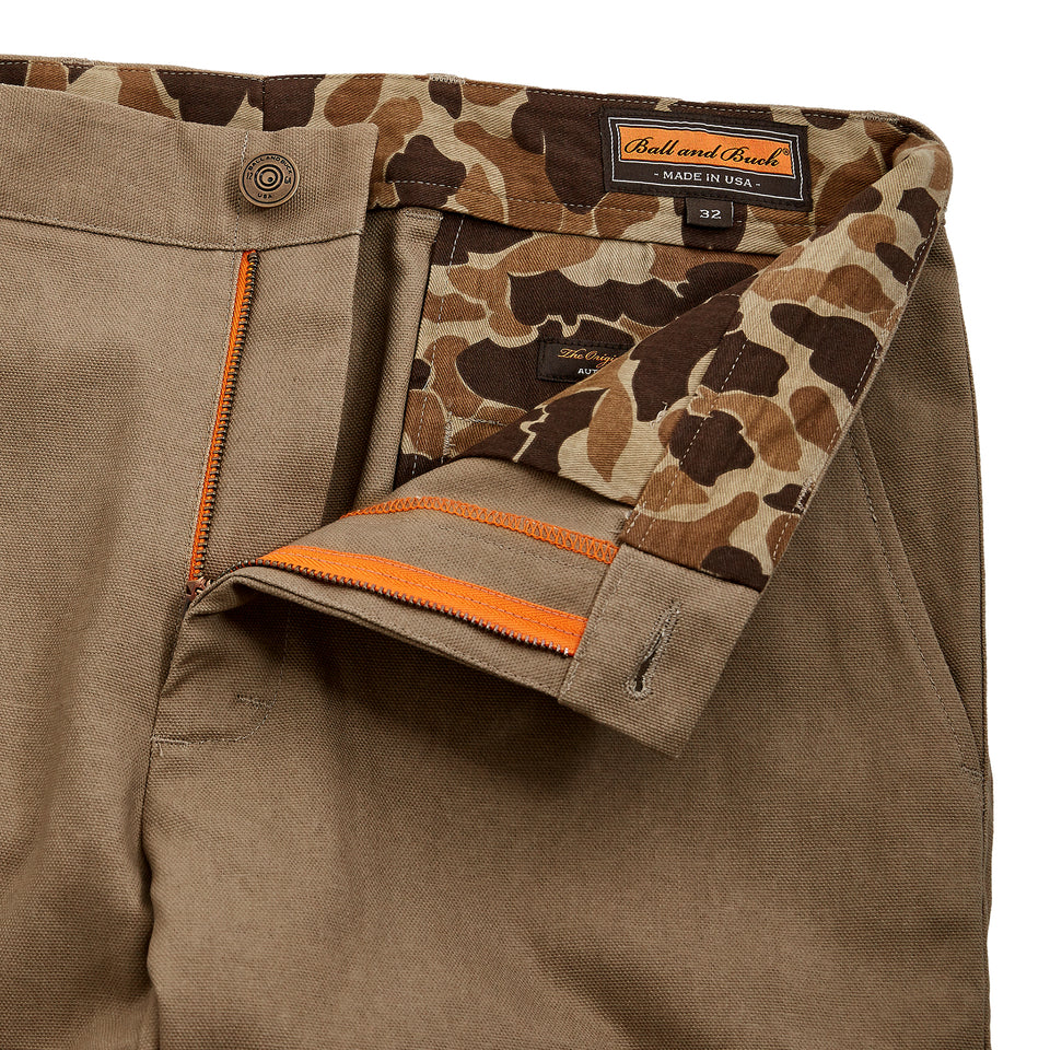8 Point Duck Cotton Pant - Khaki - Ball and Buck