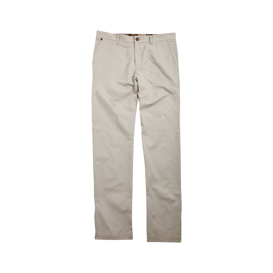 8 Point Pant Sanded Twill - Cream - Ball and Buck