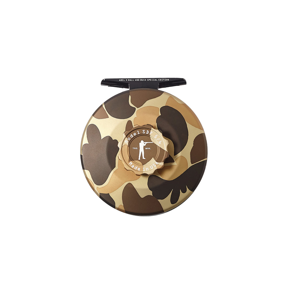 Abel x Ball and Buck Original Camo Fly Reel - Ball and Buck