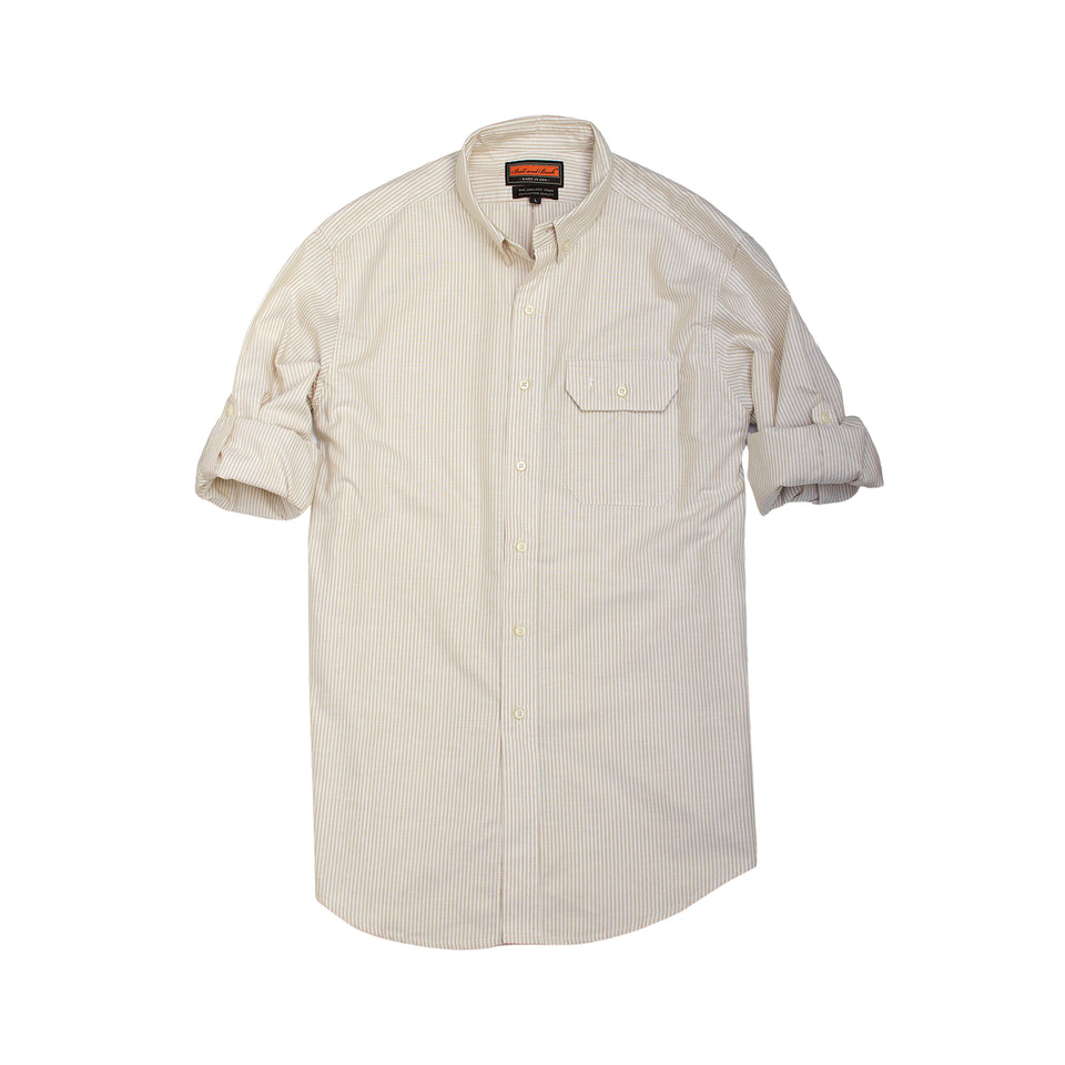Anglers Shirt - Tan Stripe