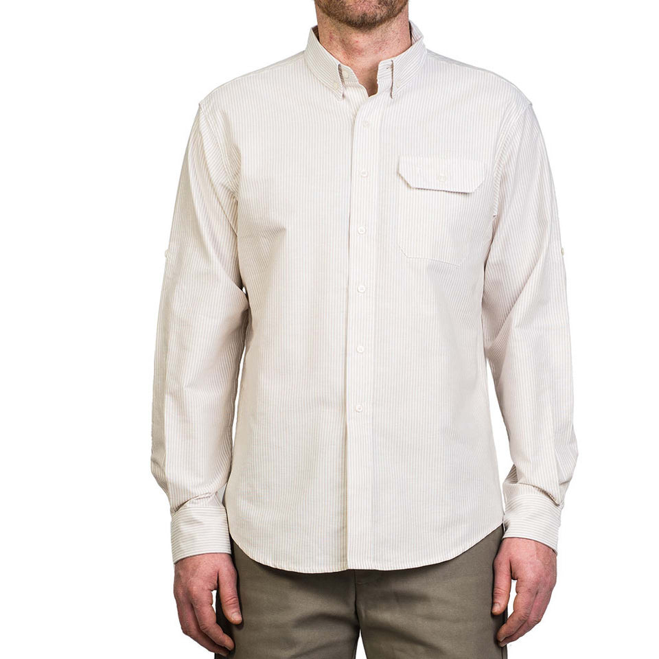 Anglers Shirt - Tan Stripe - Ball and Buck