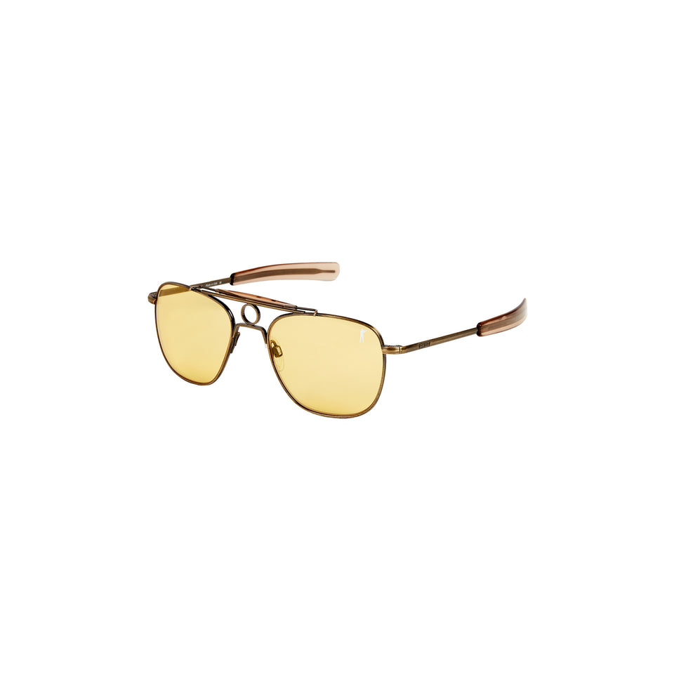 Anglers Sunglasses - Antique Brass / Medium Yellow - Ball and Buck