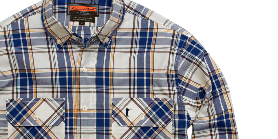 Anglers Shirt - Bluegill Plaid - Ball and Buck