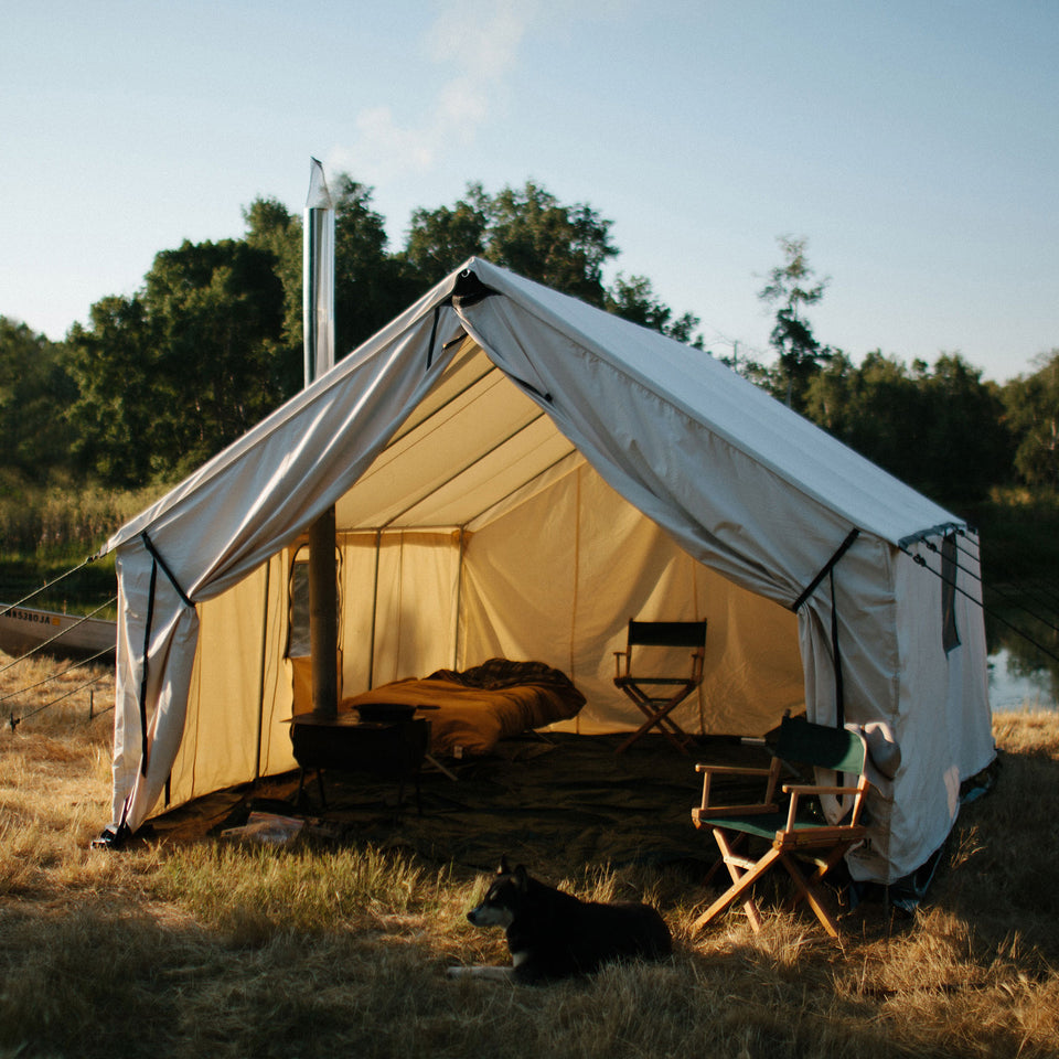 Canvas Wall Tent - Ball and Buck