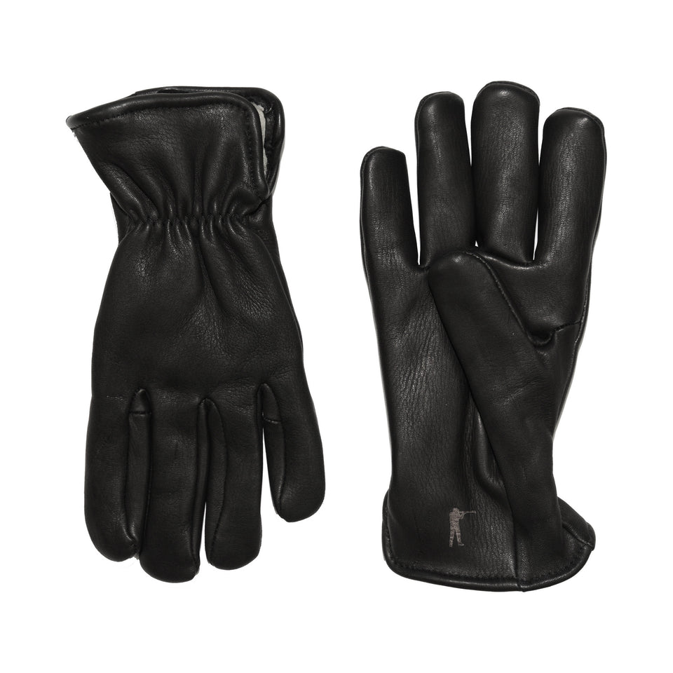 Deerskin Leather Gloves Pile Lined - Black - Ball and Buck