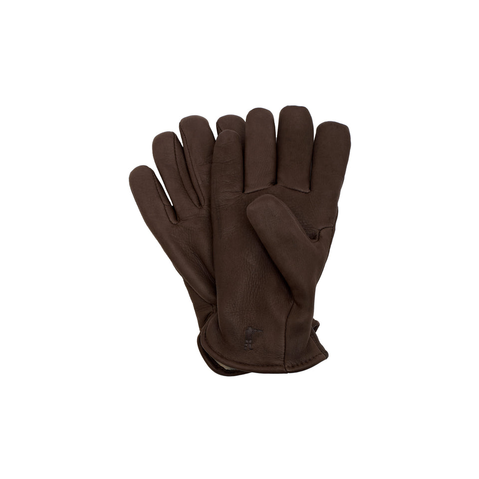 Deerskin Leather Gloves Pile Lined - Brown - Ball and Buck