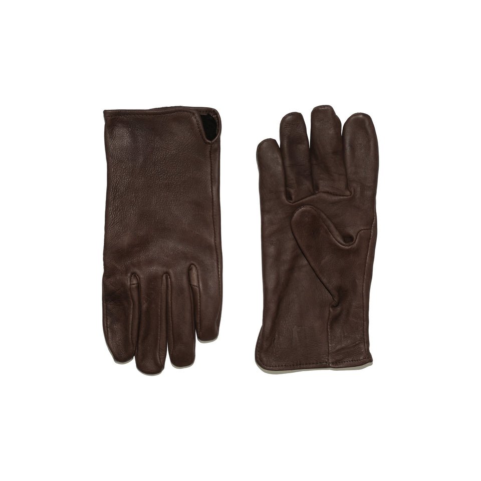 Deerskin Leather Gloves Unlined - Brown