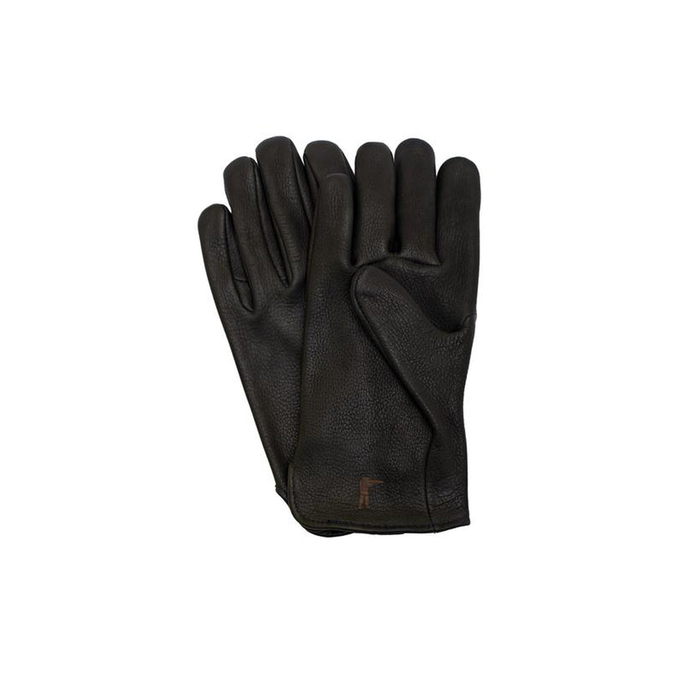 Deerskin Leather Gloves Unlined - Black - Ball and Buck