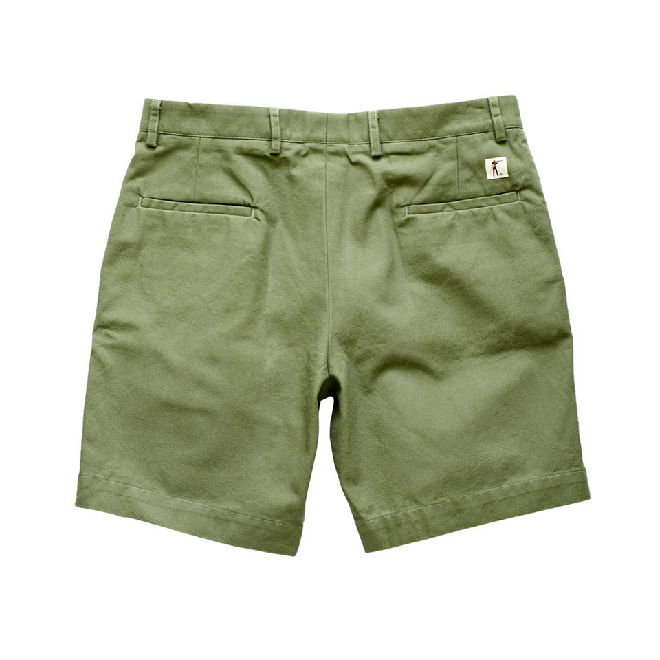 6 Point Duck Cotton Short - Fern