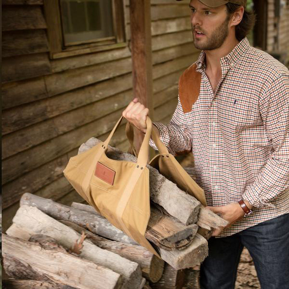Firewood Carrier - Signature Canvas - Ball and Buck