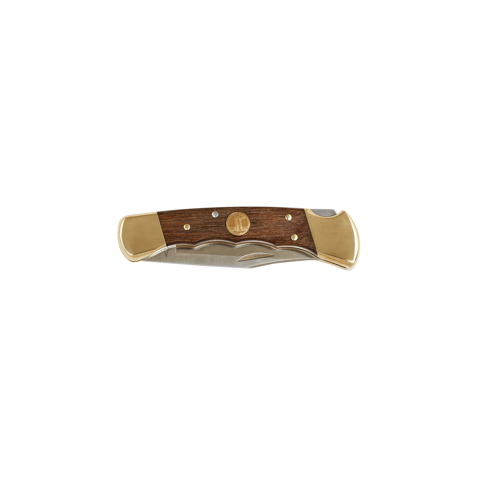 Folding Hunter Knife -  Heritage Walnut - Ball and Buck