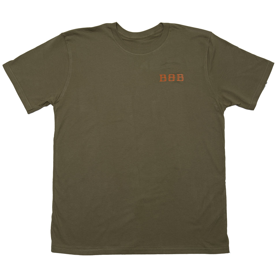 Heritage Tee - Loden/Blaze - Ball and Buck