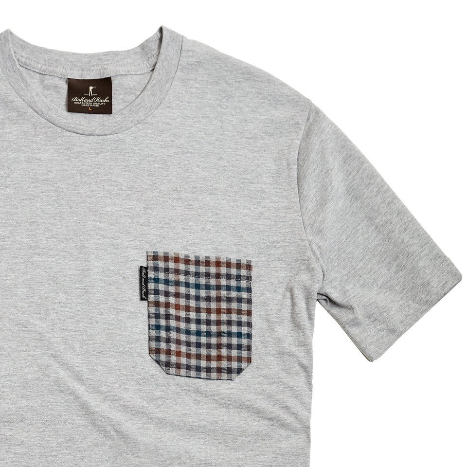 The Pocket Tee, Heather Grey/Addieville - Ball and Buck
