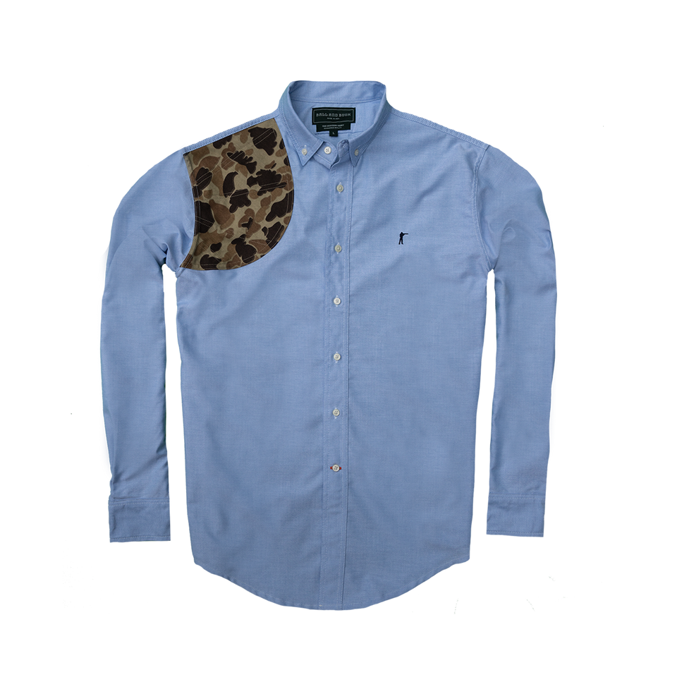 Hunters Shirt - Blue Oxford with Original Camo