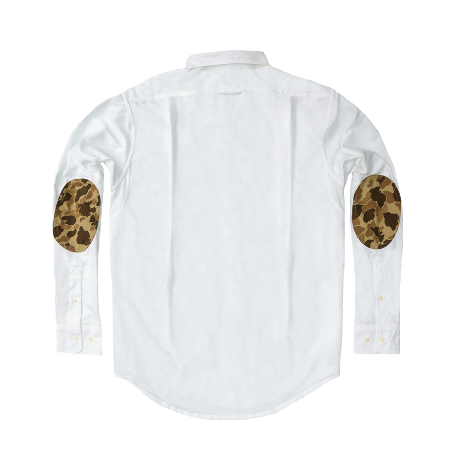Hunters Shirt - White Oxford with Original Camo