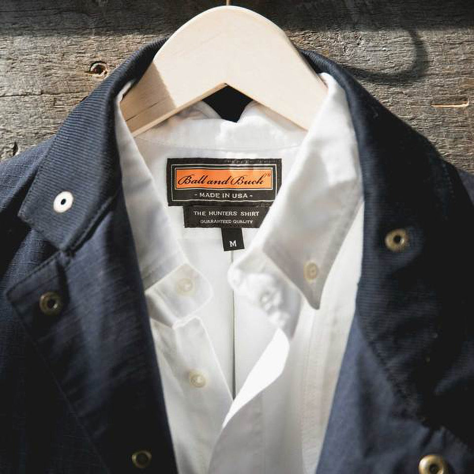 Hunters Shirt 2.0 - White Oxford - Ball and Buck