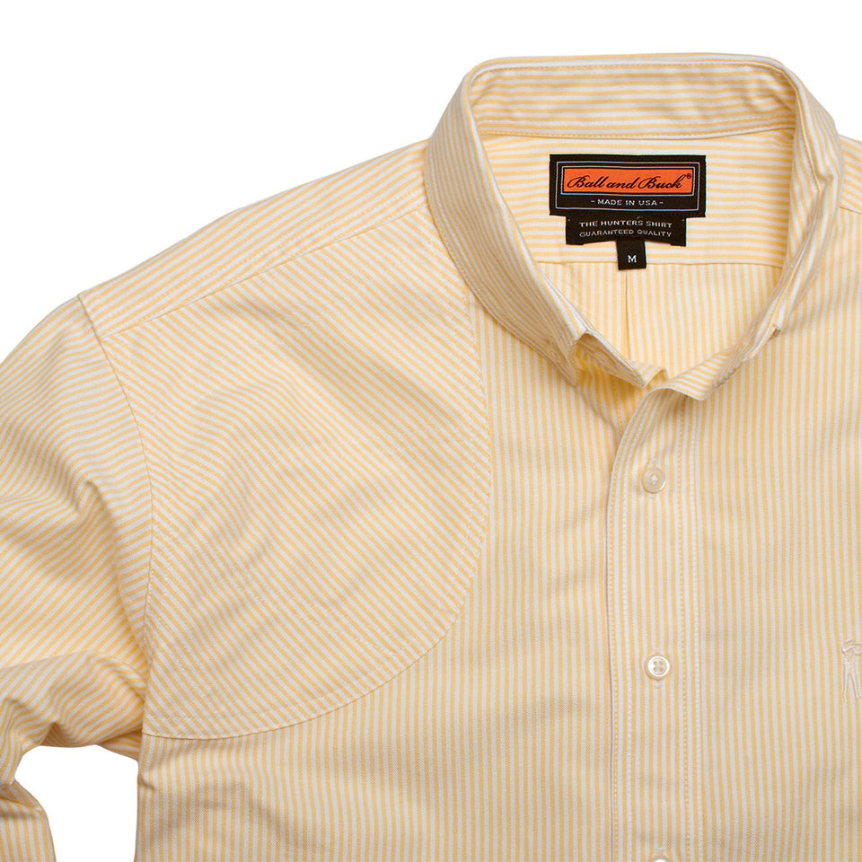 Hunters Shirt 1.0 - Yellow Stripe - Ball and Buck
