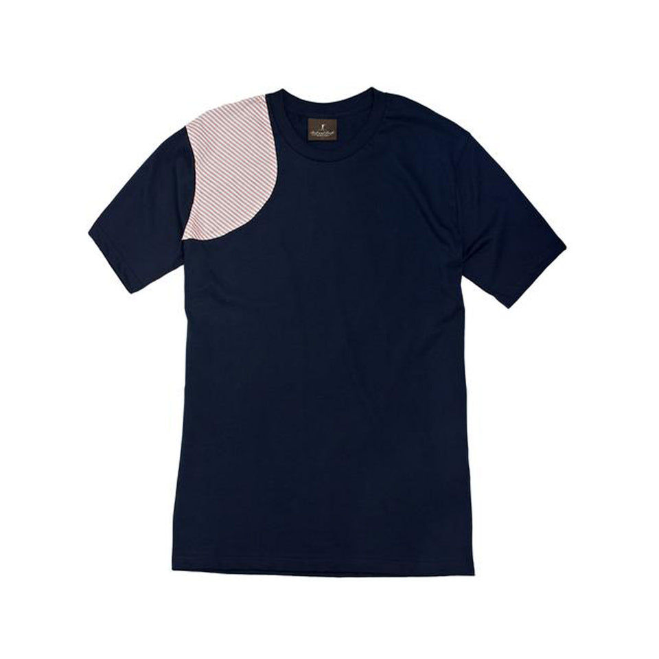 The Hunters Tee - Navy/Red Stripe - Ball and Buck