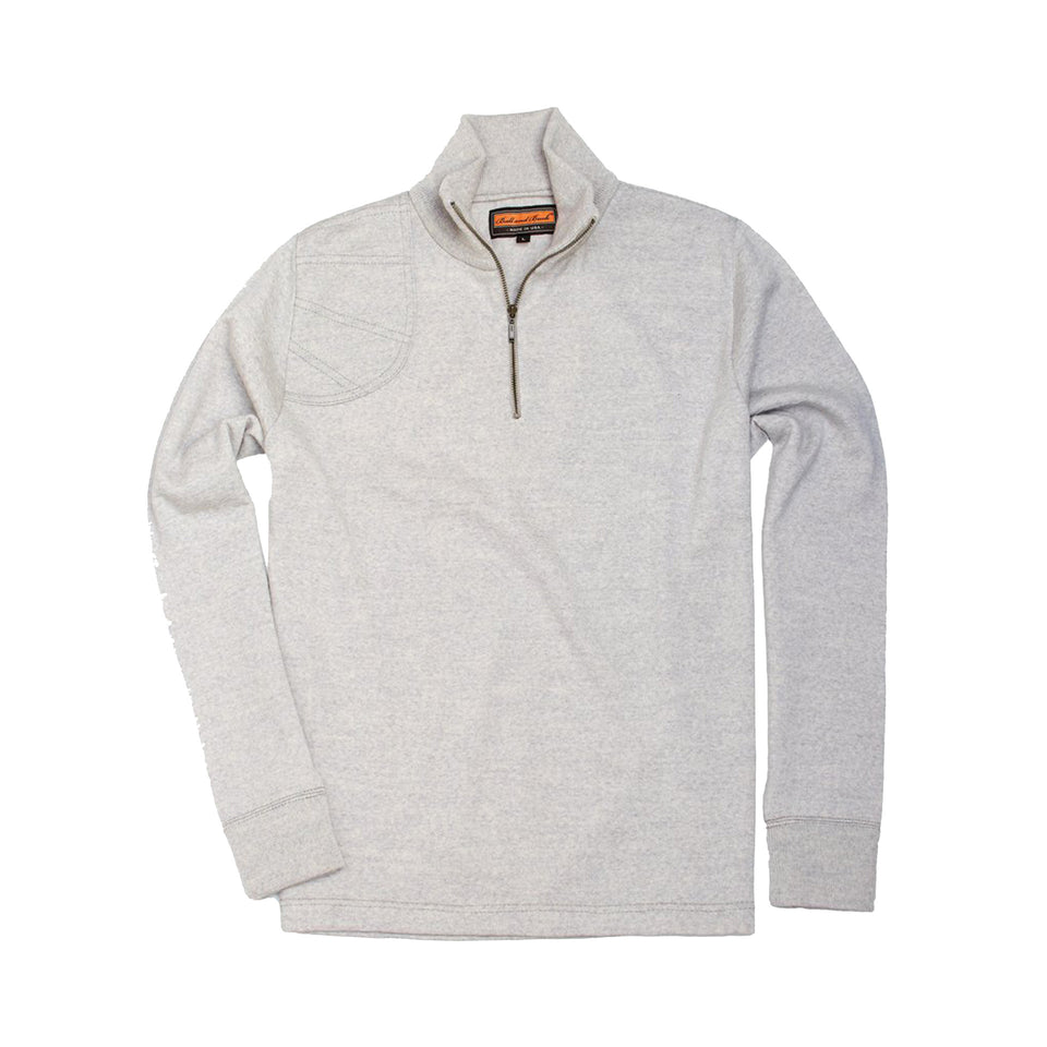 Lightweight Merino Quarter-Zip Sweater - Light Grey - Ball and Buck