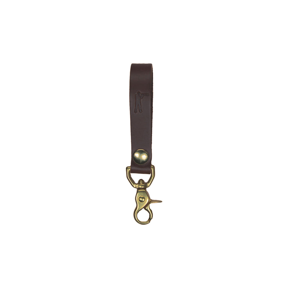Perfect Keychain - Lobster Hook - Brown - Ball and Buck