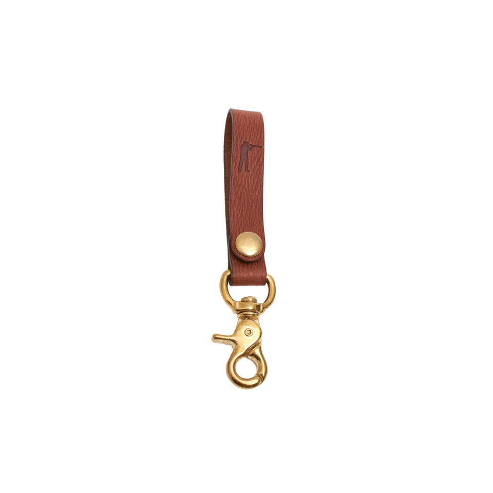 Perfect Keychain - Lobster Hook - Signature Leather - Ball and Buck