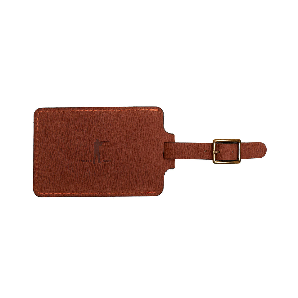 Signature Leather Luggage Tag