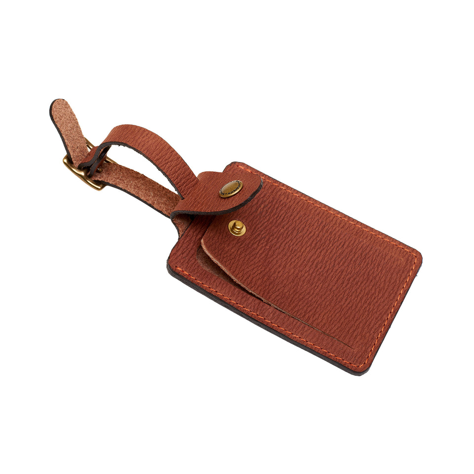 Signature Leather Luggage Tag - Ball and Buck