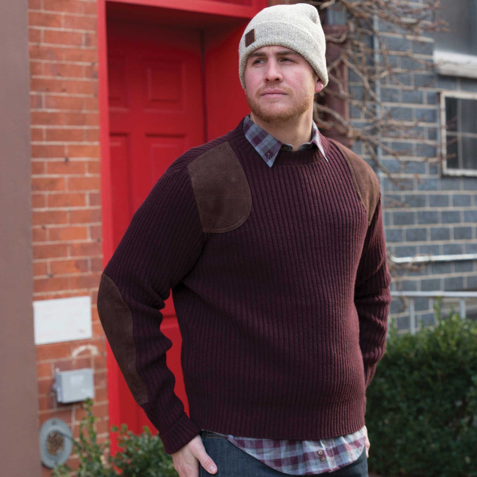 Commando Sweater - Maroon - Ball and Buck