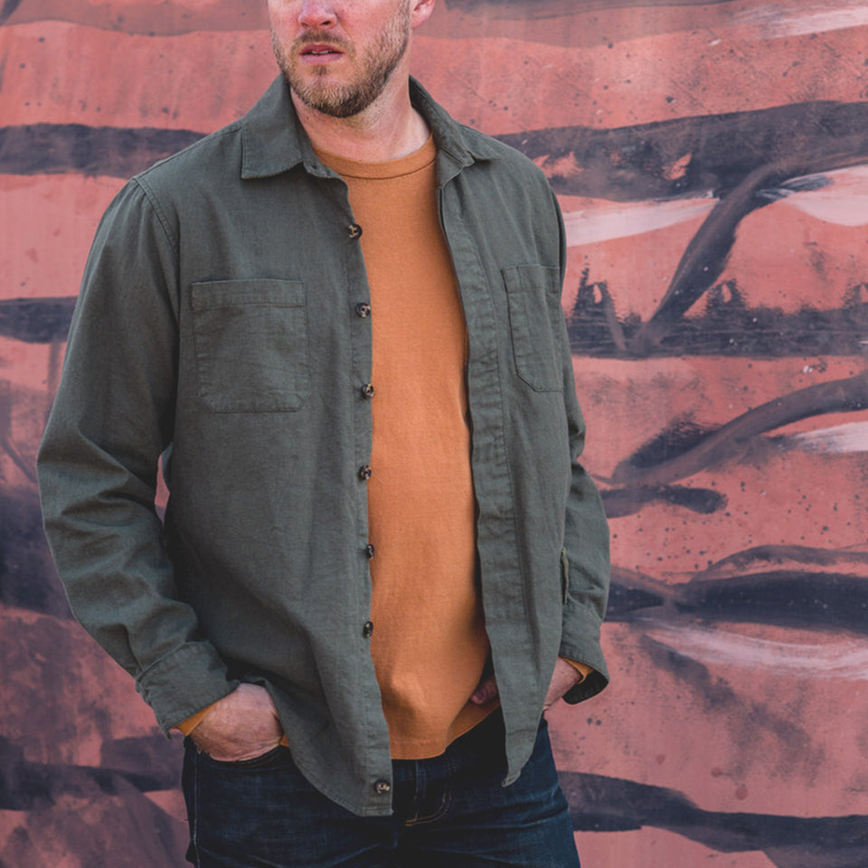 Mariners Overshirt 2.0 - Desert Green - Ball and Buck