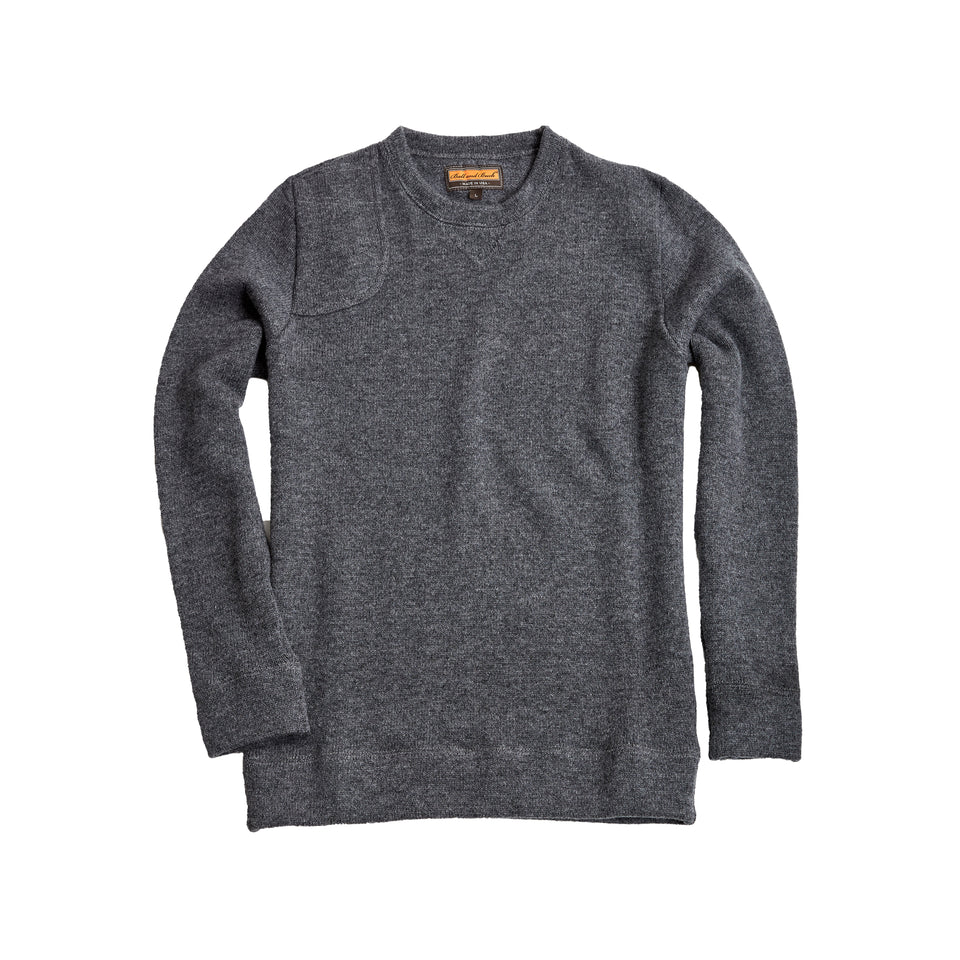 Merino Crewneck Sweater - Charcoal