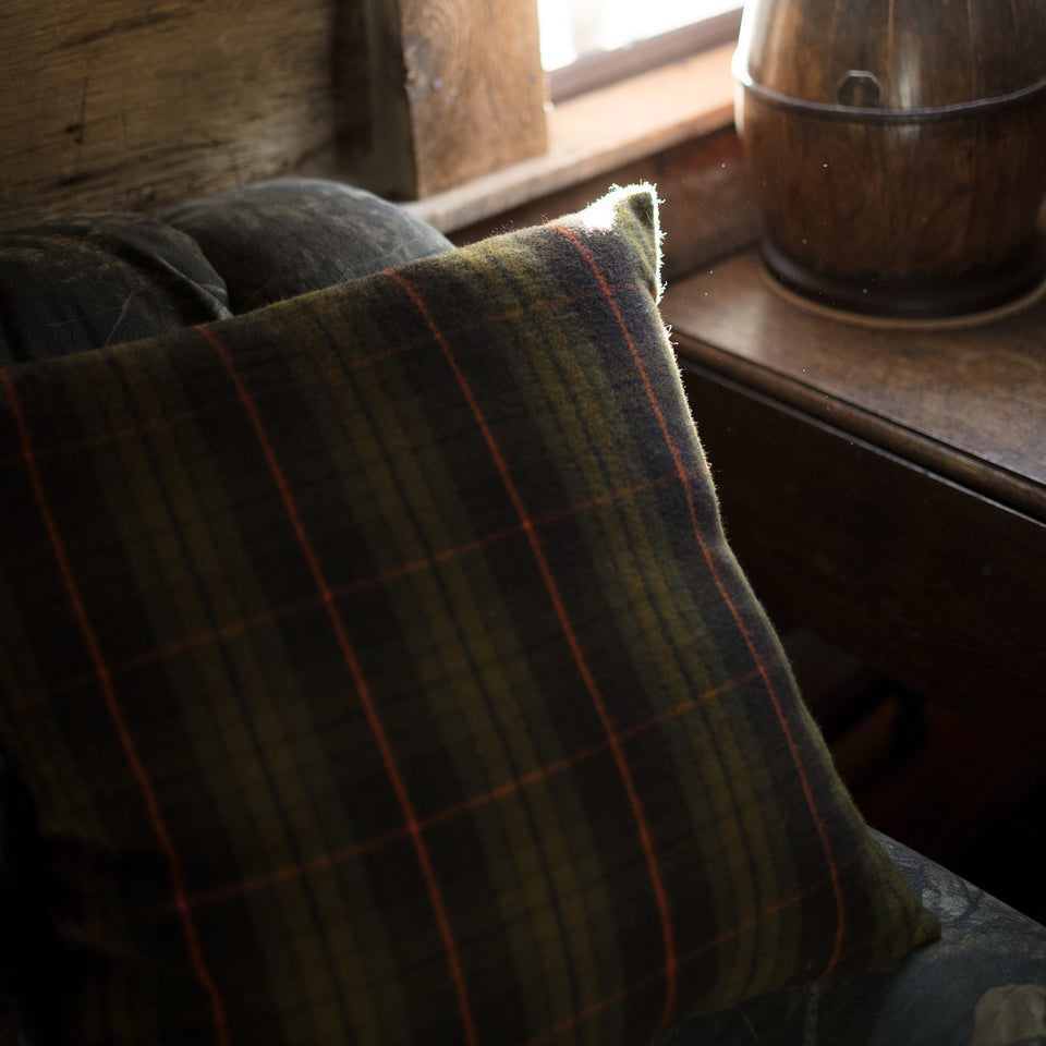 Merino Wool Pillow - Signature Plaid - Ball and Buck