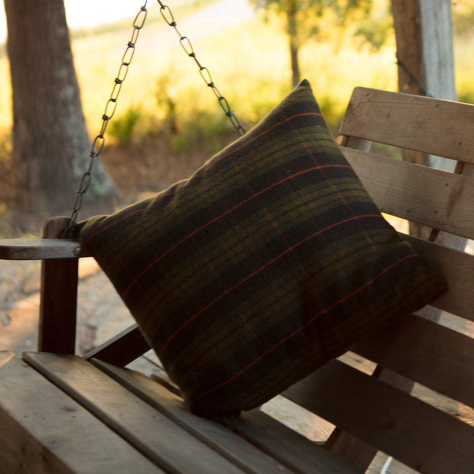 Merino Wool Pillow - Signature Plaid