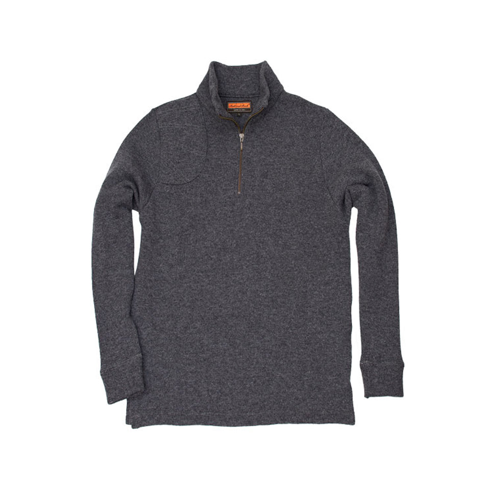 Merino Quarter Zip Sweater - Charcoal