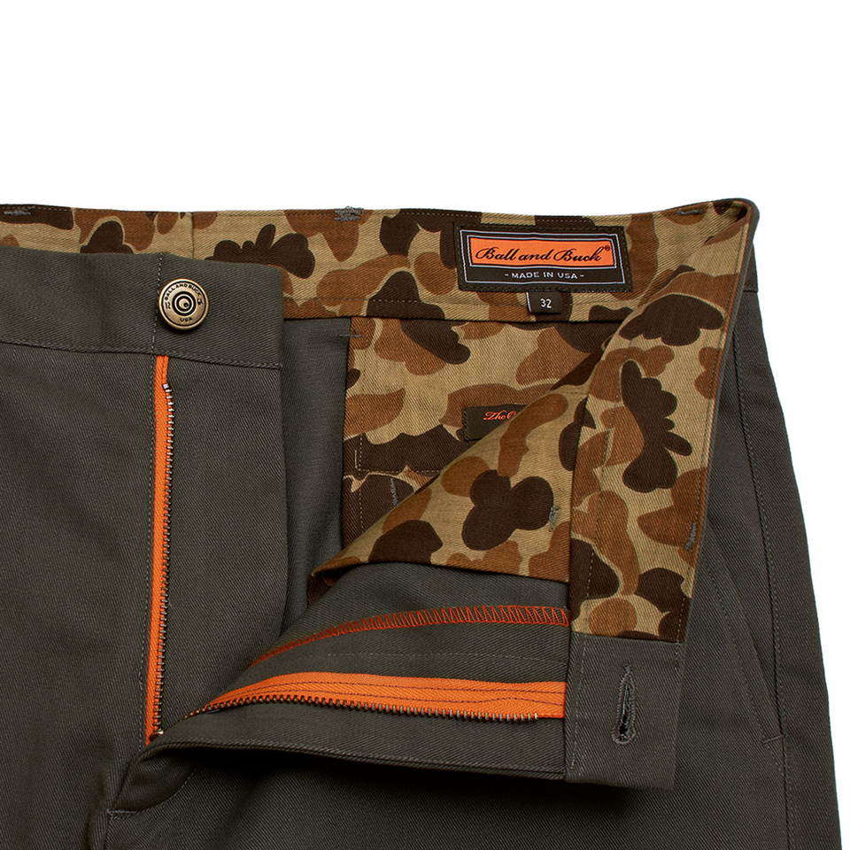 6 Point Short Chino Twill - Moss