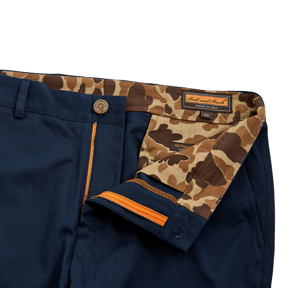 6 Point Short Chino Twill - Navy - Ball and Buck