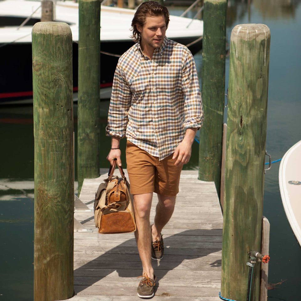 6 Point Short Chino Twill - Nutmeg - Ball and Buck