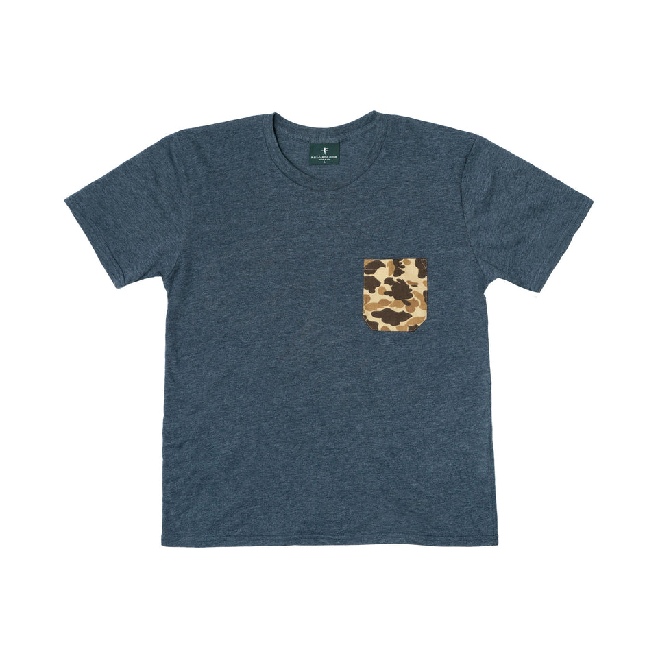 Pocket Tee - Navy/Original Camo - Ball and Buck