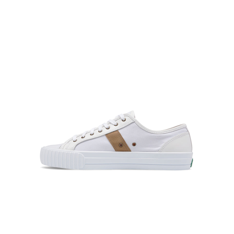 PF Flyers X Ball and Buck Center Lo - White Cordura - Ball and Buck