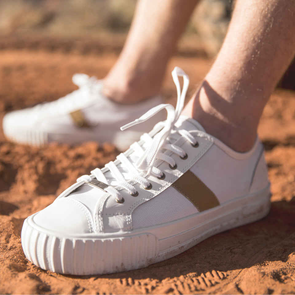 PF Flyers X Ball and Buck Center Lo - White Cordura