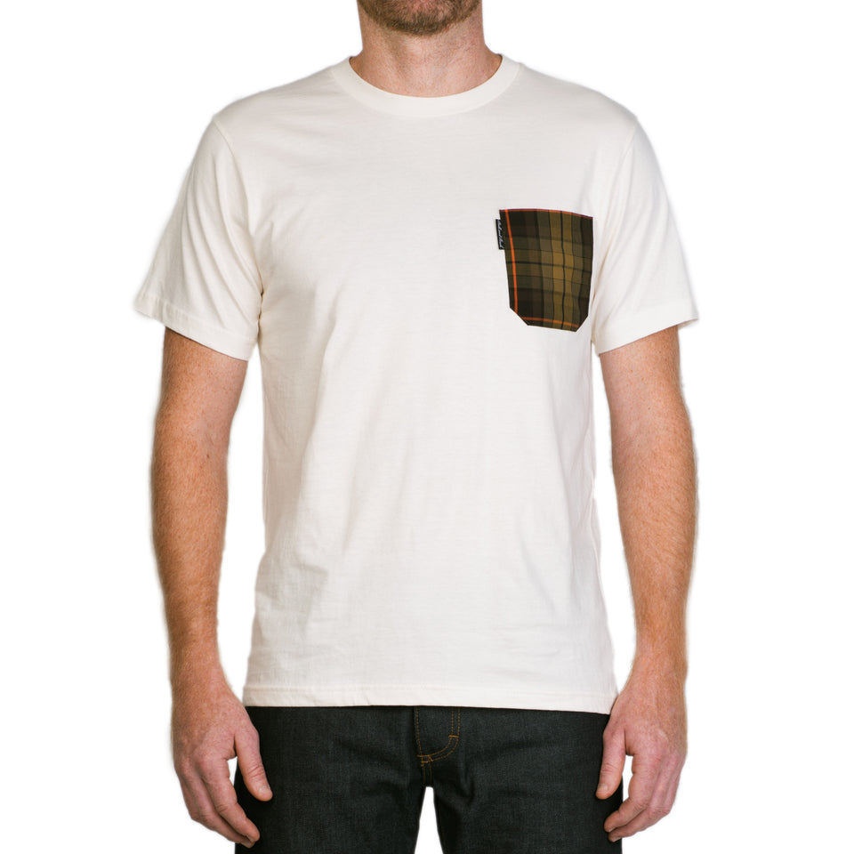 Pocket Tee - Natural / Signature Plaid