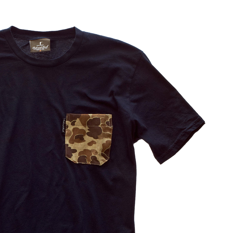 5oz Pocket Tee - Black/Original Camo