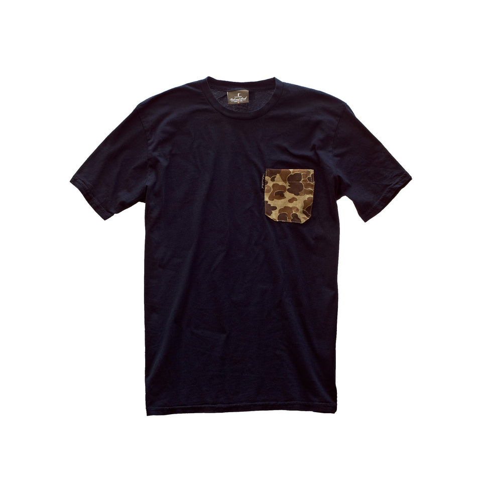5oz Pocket Tee - Black/Original Camo - Ball and Buck