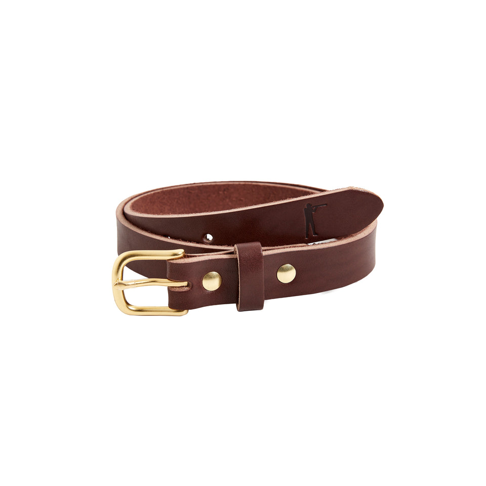 "Premium Leather Belt - 1"" Brown"
