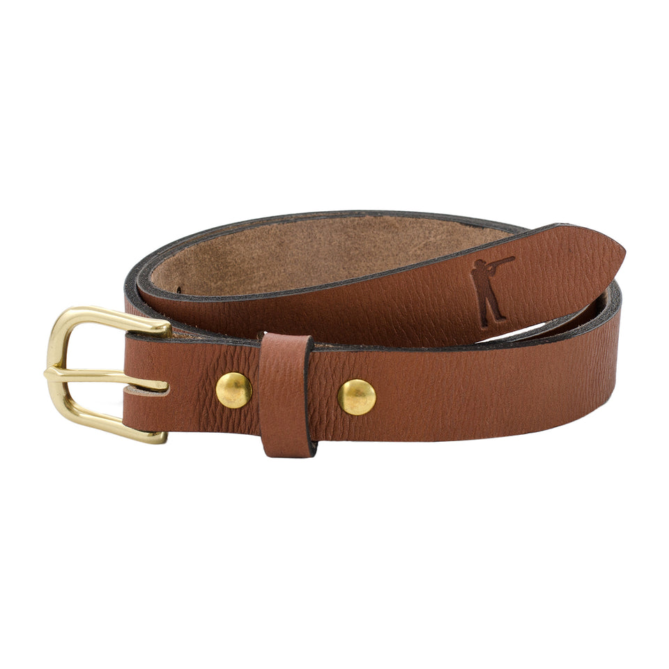 "Premium Leather Belt - 1"" Signature Leather"