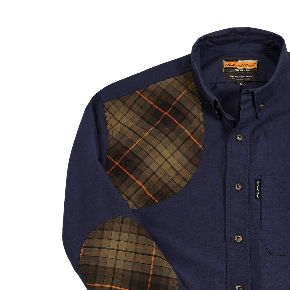 Premium Hunters Shirt - Navy/Signature Plaid - Ball and Buck