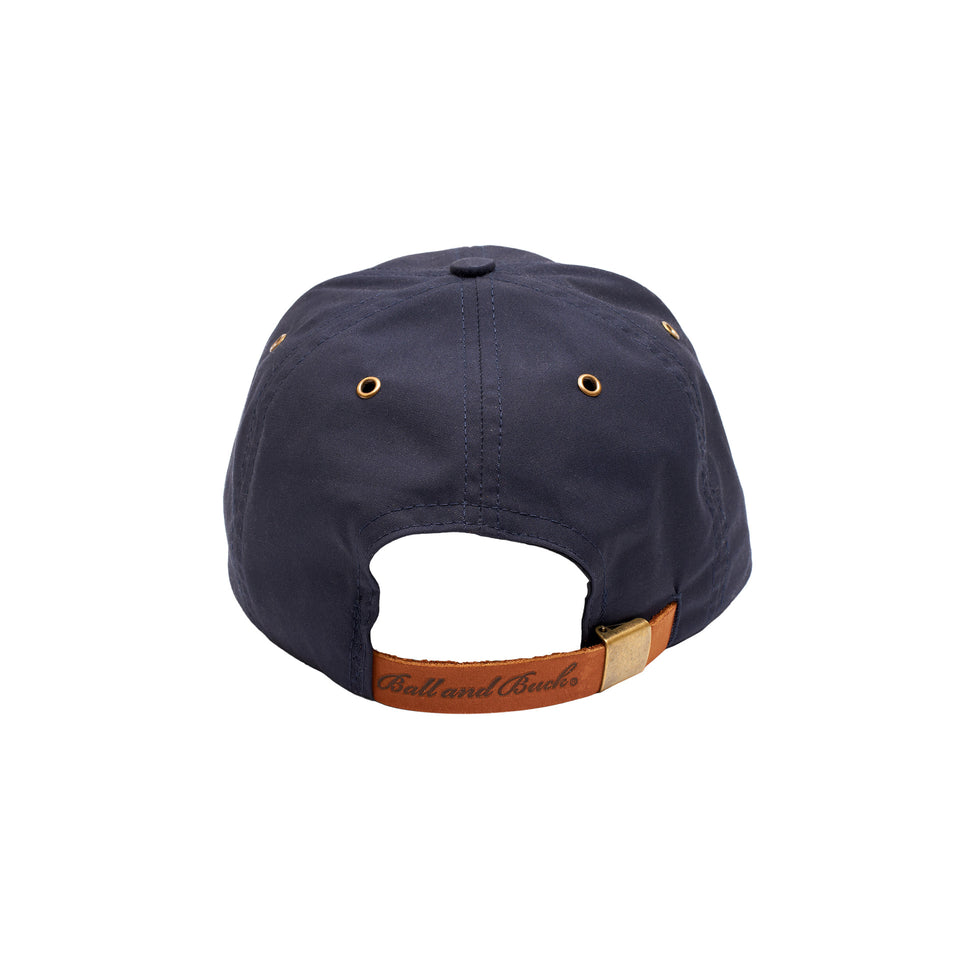 Premium Waxed Cotton Hat - Navy - Signature Plaid